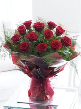Long Stemmed Red Rose Hand-tied